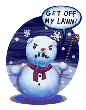 Old snow man by Ag-Cat