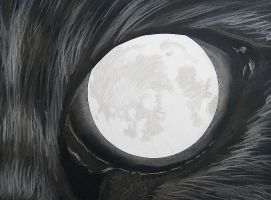 The Cat and the Moon by bumblefly