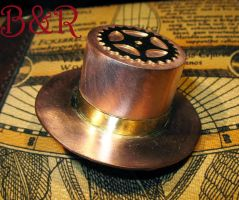 Copper and Brass metal Mini Top Hat 1 by Utinni