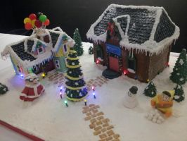 Up House Gingerbread Village by fairielove