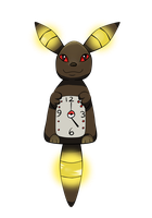 Umbreon Clock by kawaii-oekaki-chan