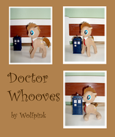 Doctor Whooves Plush SOLD by WolfPink