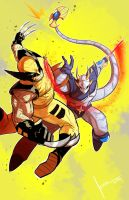 Dengeki Ryouji VS Wolverine by COLOR-REAPER