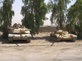 M1 Abrams and T72 by DOGZOVWAR81