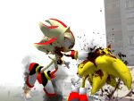 Super Sonic VS Super Shadow HD by GlitchyProductions