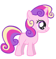 Sweetie Belle in Princess Cadence's colors by Nutty-Nutzis