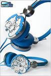 ''Polar Bears'' hand painted custom Headphones by Ketchupize