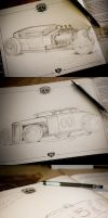 Hot Rod Sketches by FutureElements