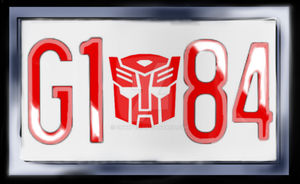 Autobot G1 84 License Plate by OnyxPen