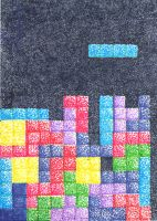 ACEO pointillism tetris by Fevley