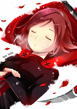 Practice III- RWBY [Red] Ruby by Ry-thae