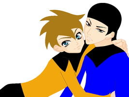 SpockXKirk For matsutakedo by YukiDemonKat