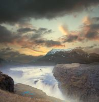 Northern Mountain Premade Background by little-spacey