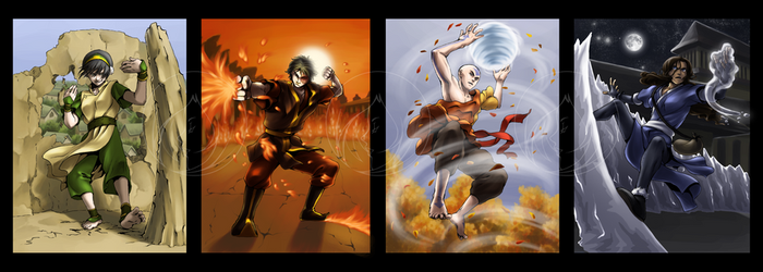 ATLA - Four Elements by dzioo