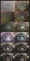 Gorilla portrait walkthrough by Bisanti
