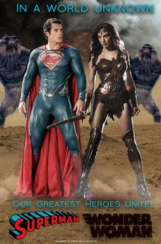 Superman and Wonder Woman Poster by renstar71