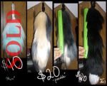3 Silky Yarn Tails for Sale. 6in, 12in, 16in by GuardiansWish