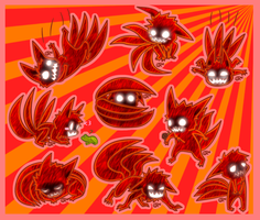 4-Tails Chibis by FancyPancakes