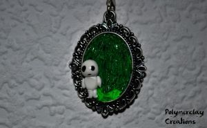 Treeghost from Princess Monoke (necklace part) by PolymerclayCreations