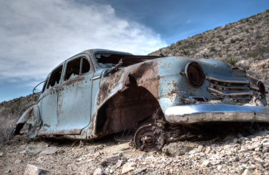 Abandoned '47 Plymouth by joelmello