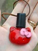 Hello Kitty nail polish bottle by MadamLuck