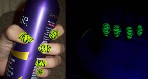 Neon yellow tiger stripes by jenna-daydreamer93