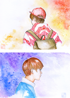 watercolor luhan by KagomeHikari