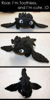 Toothless Plushie by 2ndtuesday