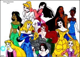 Disney Princesses by HumanStick