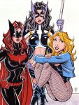 Batwoman, Huntress and Black Canary by calslayton
