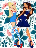 Selena and Kokoah sailor outfits by angy5