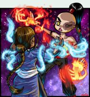 Zutara Fight by zenia