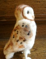 A Needle Felted Barn Owl by JessieDockins