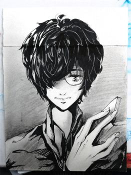 Doodle done in class by Hana-kamisama