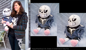 Sans Plushie by QueenBeePlush