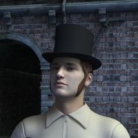 Young man in a top hat by eswallace2001