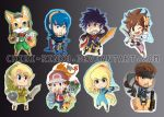 Chibi SSBB Charms by BettyKwong