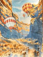 Balloons in Canyon by CheshFire