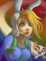Fionna and Cake by FROZENVIOLINIST