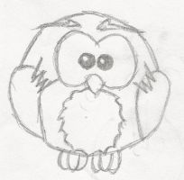 Random cartoon Owl Sketch :) by Toothy-01