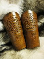 Brown Celtic Bracers by TheScreamingNorth