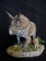 Torosaurus and Baby by Baryonyx-walkeri