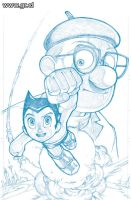 Astroboy Cover Pencils by GabrielRodriguez