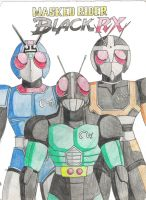 Kamen Rider Black RX by nakoshinobi