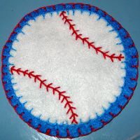 June Magnet - Baseball by UrsulaPatch