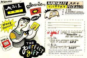 Warble Mail Art Service Flyer by hyronomous