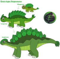 Grass-type Stegosaurus by MCsaurus