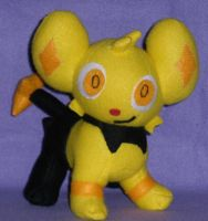 Shiny Shinx Plushie by GlacideaDay