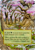 Gaea's Cradle - Borderless Alter (Cherry Blossoms) by closetvictorian