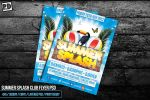 SUMMER SPLASH CLUB FLYER PSD by pixeldelightuk